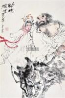 钟馗嫁妹 镜心 设色纸本 - 131513 - 中国书画 - 2012夏季艺术品拍卖会 -收藏网