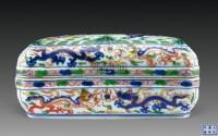 青花加彩龙纹长方盖盒 -  - 惜古藏珍 - 2012年秋季拍卖会 -收藏网