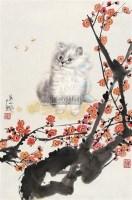 猫 镜片 设色纸本 -  - 云桂斋藏品专场 - 2012四季拍卖(第二期) -收藏网