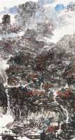 深山幽景 设色纸本 - 王如何 - 中国书画(四) - 2012中原之夏书画拍卖会 -中国收藏网