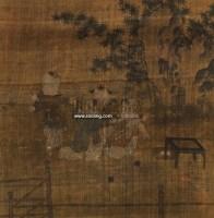 婴戏图 镜心 设色绢本 -  - 中国书画 - 第二期艺术品拍卖会 -收藏网