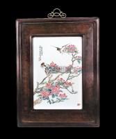 吴少炼 粉彩花鸟挂屏 (一件) -  - 中国古董精品 - 2012年《第一拍卖厅》冬季专场拍卖会 -收藏网