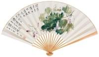 蚕 成扇 设色纸本 - 117343 - 中国书画 - 2012夏季艺术品拍卖会 -收藏网