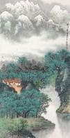 蜀江翠色 托片 纸本 - 11501 - 中国书画 - 2012年第四回无底价同一藏家书画拍卖会 -中国收藏网