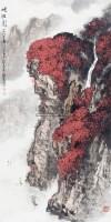 峡行图 立轴 设色纸本 - 20046 - 四.四海集珍——近现代名家书画专场 - 2012秋季书画大型拍卖会 -收藏网