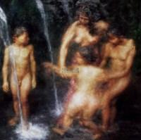 泉 布面 油画 -  - 中外书画精品 - 2012年《第一拍卖厅》冬季专场拍卖会 -收藏网