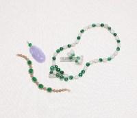 18K白金翡翠颈炼及耳环(3) -  - 翡翠珠宝 - 2013年春季拍卖会 -收藏网