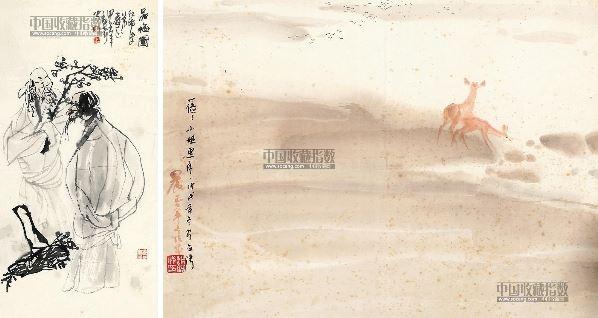 人物风景绘画 设色纸本 - 21400 - 古籍文献 名家翰墨 - 八周年春季