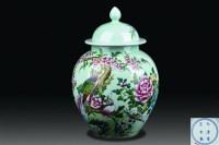 粉彩花卉盖罐 -  - 玉器杂项书画瓷器 - 上海鸿年2012秋季大型艺术品拍卖会 -收藏网