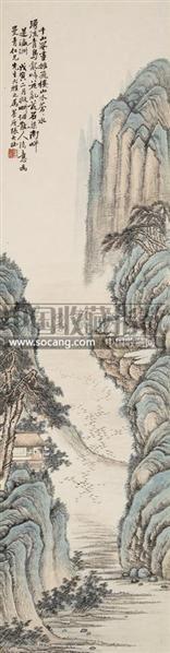 千山罨画 - 123440 - 墨华烟云——中国书画专场 - 2012春季文物艺术品拍卖会 -收藏网