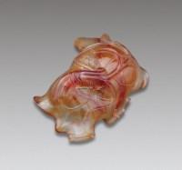玛瑙荷叶洗 -  - 文房珍玩及乐器杂项专场 - 2012秋季艺术品拍卖会 -收藏网