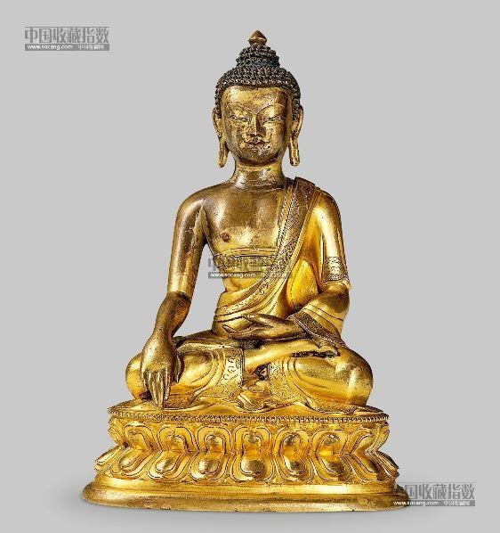释迦牟尼 -  - 金铜佛像、文房清玩 - 2013年春季竞买会 -收藏网