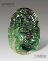 老坑翡翠龙纹珮 -  - 瓷玉珍玩 - 2013年首届艺术品拍卖会 -收藏网