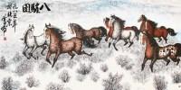 八骏图 镜片 纸本 - 127731 - 中国书画 - 2012年秋季艺术品拍卖会 -中国收藏网