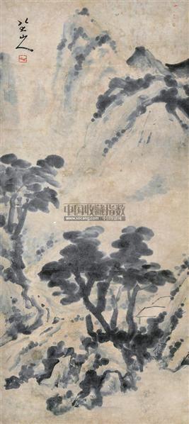 山水 立轴 水墨纸本 - 116405 - 中国书画 - 2012夏季艺术品拍卖会 -收藏网