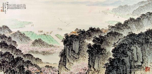 江南三月 镜片 纸本 - 5002 - 中国书画 - 2013年首届艺术品拍卖会 -收藏网