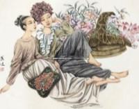 人物 镜心 纸本 - 崔进 - 中国书画 - 2012秋季艺术品拍卖会 -收藏网