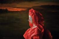 红纸新娘·残阳 布面油画 - 曾传兴 - 现当代中国艺术 - 2012秋季拍卖会 -中国收藏网