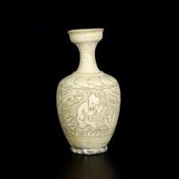 登封窑珍珠地婴戏纹盂口瓶 -  - 古董珍玩 - 2013 年迎春大型艺术品拍卖会 -收藏网