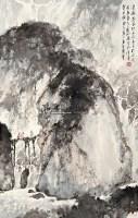 溪桥遇故知 镜心 设色纸本 - 123320 - 金陵国翰馆藏书画 - 2012秋季拍卖会 -收藏网