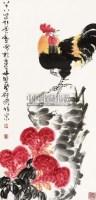 大吉图 立轴 设色纸本 - 17529 - 中国书画 - 第三期艺术品拍卖会 -收藏网