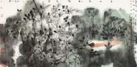 家园精神 镜框 设色纸本 - 卢禹舜 - 《文盛轩藏中国书画作品选》(第五辑)著录专场 - 2012秋季大型艺术品拍卖会 -收藏网