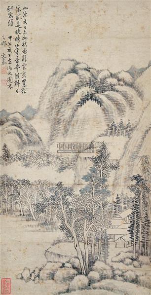 山水 立轴 水墨纸本 - 3712 - 中国书画 - 2012夏季艺术品拍卖会 -收藏网
