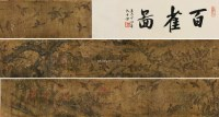 百雀图 手卷 设色绢本 - 116966 - 中国古代书画 - 2012秋季拍卖会 -收藏网
