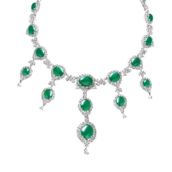 玻璃种翡翠蛋面项链 - - 私人藏品之经典雅藏—珠宝翡翠 - 2012年秋季