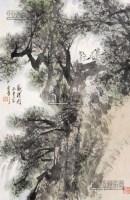 观瀑图 立轴 纸本 - 张登堂 - 中国书画 - 2013年首届艺术品拍卖会 -收藏网