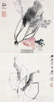 虾 瓜果双挖 -  - 墨华烟云——中国书画专场 - 2012春季文物艺术品拍卖会 -收藏网