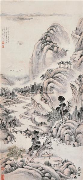 山水 立轴 水墨纸本 - 13561 - 中国书画 - 2012夏季艺术品拍卖会 -收藏网