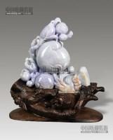翡翠紫罗兰三多摆件 -  - 瓷玉珍玩 - 2013年首届艺术品拍卖会 -收藏网