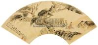人物扇面 镜片 设色纸本 - 傅抱石 - 中国书画(一) - 2012第十五届书画拍卖会 -中国收藏网