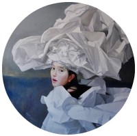 白纸新娘-唤起记忆的歌之一 布面 油画 - 曾传兴 - 现当代艺术 - 第21期精品拍卖会 -中国收藏网