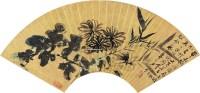 花卉 扇片 设色纸本 - 116070 - 中国书画二 - 2012年秋季拍卖会 -中国收藏网