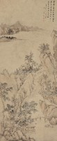 山水 镜心 设色纸本 - 118107 - 中国古代书画 - 2012秋季拍卖会 -收藏网
