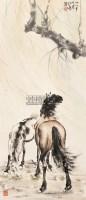 奔马 立轴 纸本 - 116101 - 中国书画专场(二) - 2012年秋季书画艺术品拍卖会 -收藏网