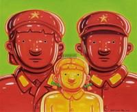 军人家庭系列 油彩  画布 - 150410 - 中国油画雕塑 - 2012年春季大型艺术品拍卖会 -收藏网