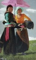 阳光草原 布面油画 - 于小冬 - 现当代中国艺术 - 2012秋季拍卖会 -收藏网