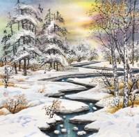 冰雪 镜心 -  - 当代书画保真返收购专场 - 2012年秋季当代书画保真返收购专场拍卖会 -收藏网
