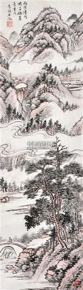 山水 立轴 设色纸本 - 134368 - 中国书画 - 2012夏季艺术品拍卖会 -收藏网