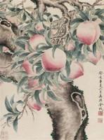 寿桃 立轴 设色纸本 - 37775 - 中国书画二 - 2012春季艺术品拍卖会 -收藏网