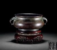铜象耳炉 -  - 古董珍玩 - 2012春季艺术品拍卖会 -收藏网