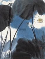 荷花蜻蜓 立轴 - 刘旦宅 - 中国书画专场 - 2012年秋季艺术品拍卖会 -收藏网