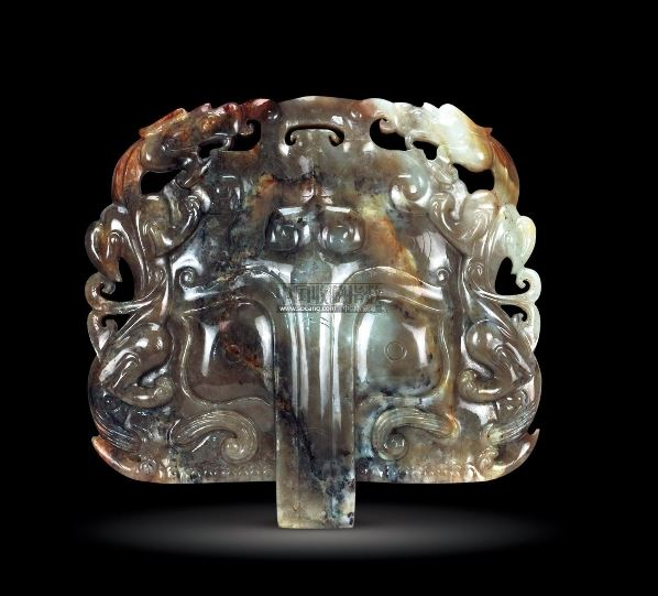 青白玉铺首珮 (一件) -  - 中国古董精品 - 2012年《第一拍卖厅》冬季专场拍卖会 -收藏网