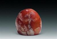 白皮薄意雕田黄摆件 -  - 玉器杂项书画瓷器 - 上海鸿年2012秋季大型艺术品拍卖会 -中国收藏网