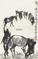 墨驴 镜心 水墨纸本 - 7693 - 中国书画二 - 2012春季艺术品拍卖会 -收藏网