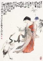 清平调诗意图 镜框 设色纸本 - 136839 - 中国书画(三) - 2013年迎春艺术品拍卖会 -收藏网