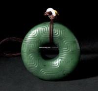 和田碧玉圈形挂件 -  - 君子之风——当代玉石专场 - 2012年首届艺术品拍卖会 -收藏网